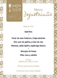 Menú Degusta LuZía mayo '15